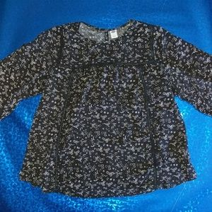 Old Navy Juniors Black Three Quarter Length Sleeve